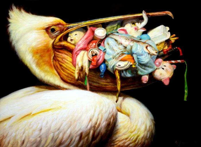 Фантастические картины животных в постапокалиптической среде. Художник Мартин Виттфут (Martin Wittfooth).