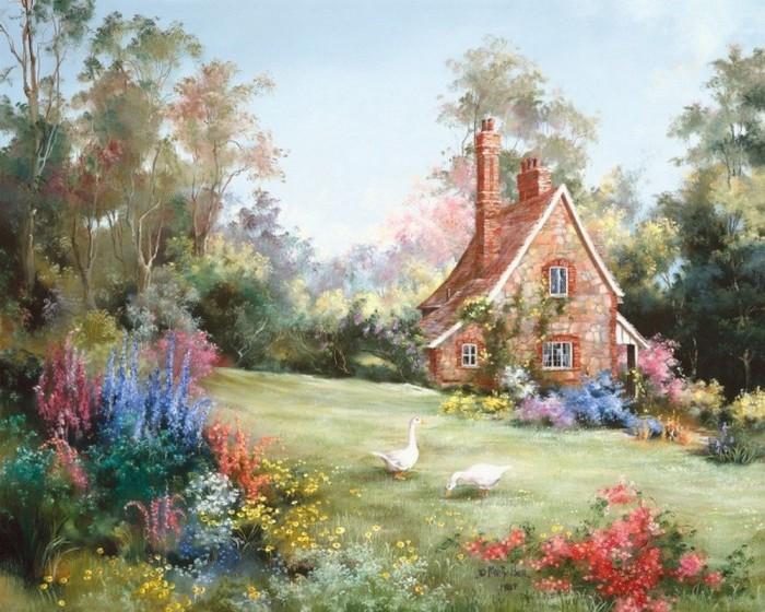 Старый дом всегда хранит свои потаённые воспоминания... Автор: Marty Bell.