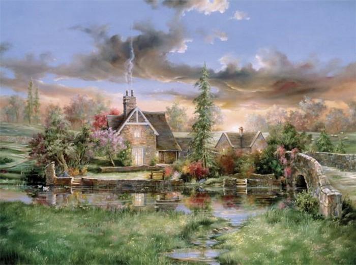 Дом - это уже не место, а состояние души. Автор: Marty Bell.