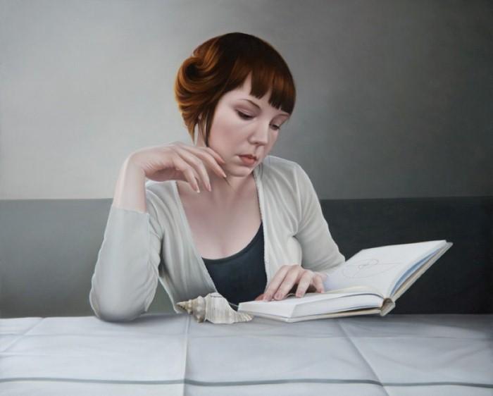 Реалистичные портреты женщины в работах современного художника Мэри Джейн Анселл (Mary Jane Ansell).