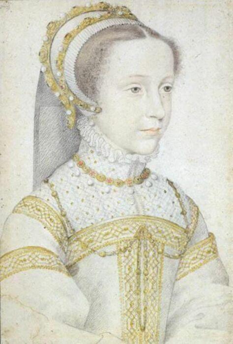 Портрет Марии Стюарт в юности, Франсуа Клуэ. \ Фото: pinterest.com.