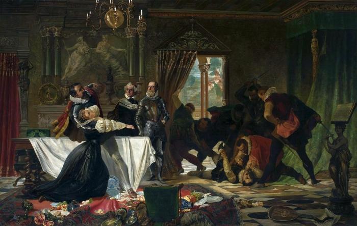 Убийство Дэвида Риццио. \ Фото: ru.wikipedia.org.