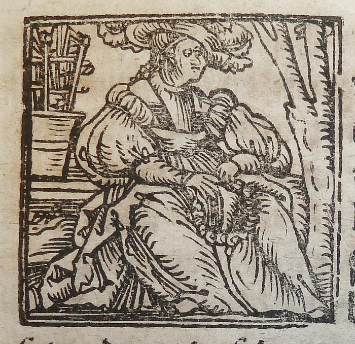 Ксилография иллюстрации знака зодиака Дева.