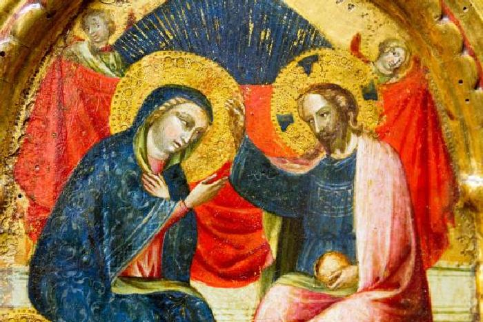 Картина Коронации Девы Марии, XIV век.