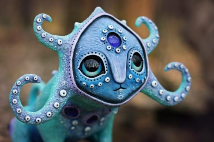 Лесной осьминог Аммунту. Необычные игрушки от мастерицы Марьяны Копыловой.