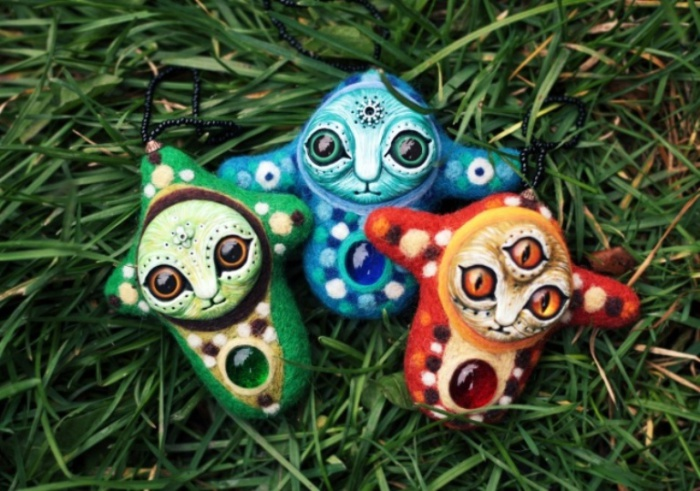 Личинки краказябров. Необычные игрушки от мастерицы Марьяны Копыловой.