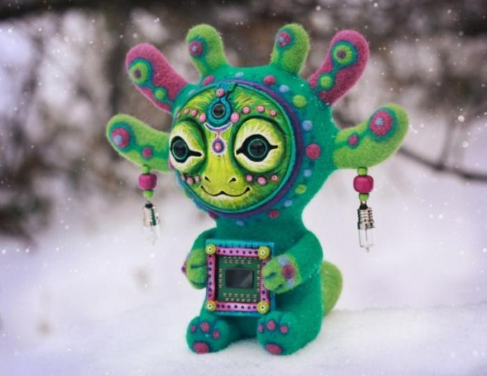Аттури. Ловец голосов из других галактик. Необычные игрушки от мастерицы Марьяны Копыловой.