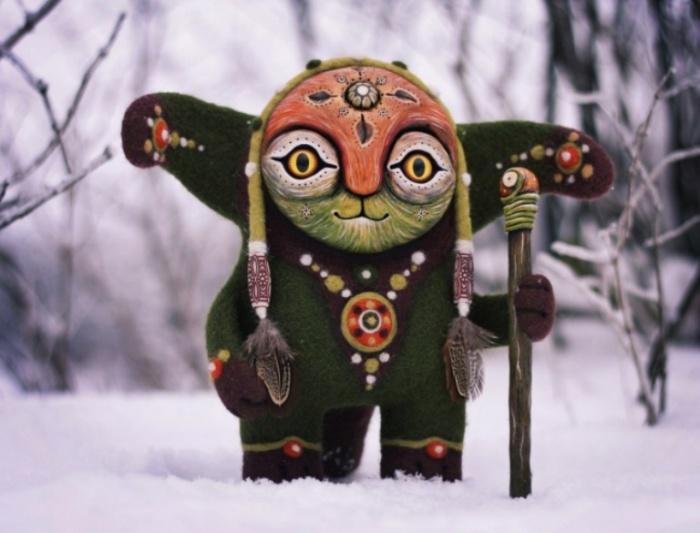 Йоури. Согревающий деревья зимой. Необычные игрушки от мастерицы Марьяны Копыловой.