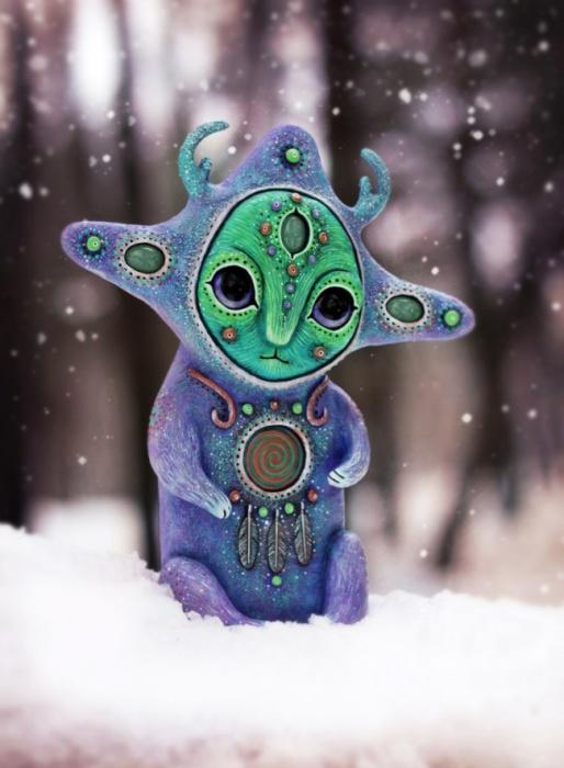 Смотритель февральских снегов. Необычные игрушки от мастерицы Марьяны Копыловой.