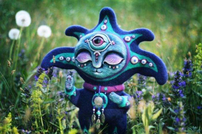 Аэйну. Тот, кто прогоняет недобрые сны. Необычные игрушки от мастерицы Марьяны Копыловой.