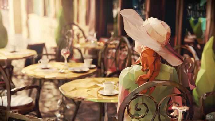 В кафе. Автор: Mat Szulik.