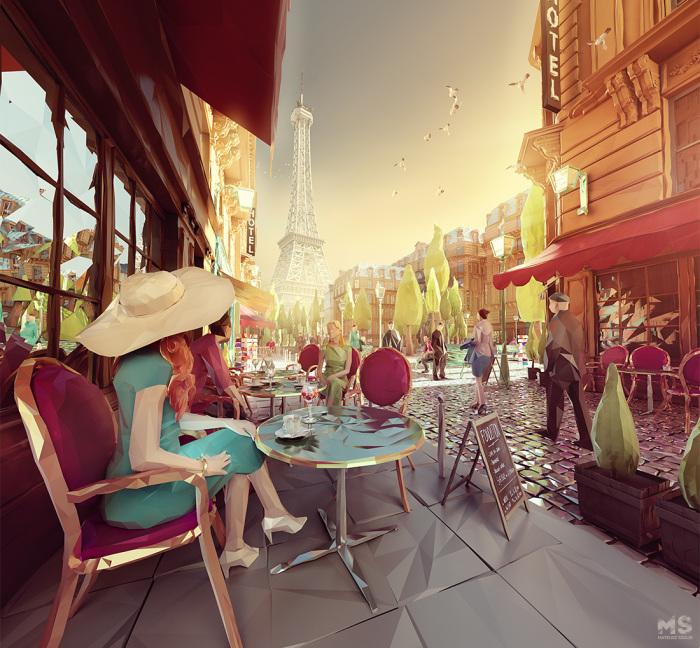 Ещё один день в Париже. Автор: Mat Szulik.