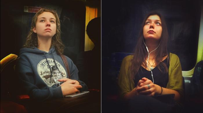 Мэтт Крэбтри тайно фотографирует пассажиров метро, напоминающих картины XVI-го века.