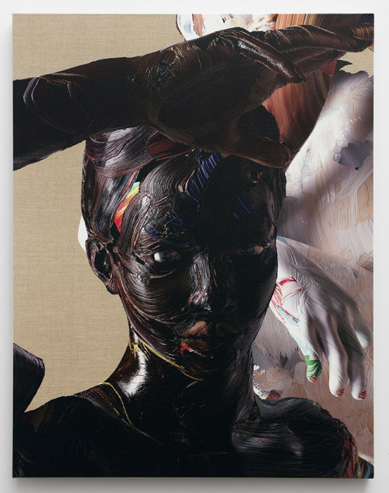 «Цифровая» живопись Стоуна — это неординарные сочетания традиционного письма на холсте и фотографии.