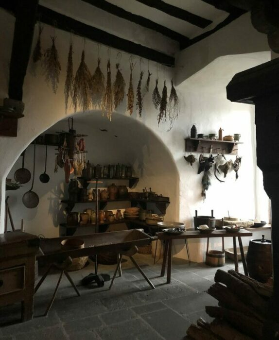 Кухня замка Марксбург. \ Автор фото: Frances Dilworth.