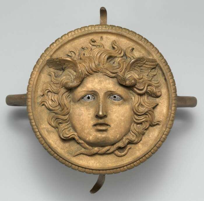 Бронзовый орнамент с шеста колесницы, I-II век н. э. \ Фото: metmuseum.org.