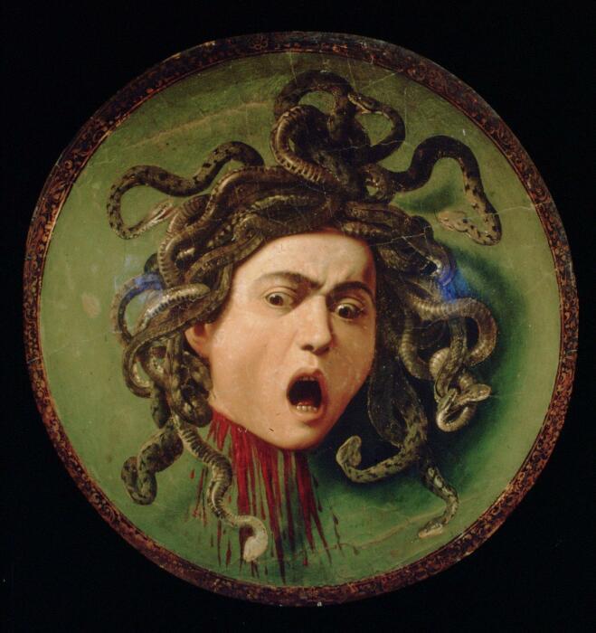 Медуза, картина итальянского художника Караваджо. \ Фото: estaeslahistoria.com.