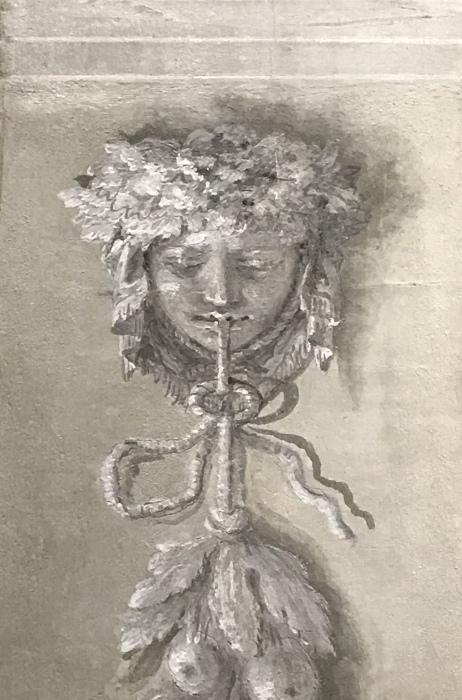 Декоративная голова Медузы, Джандоменико Тьеполо. \ Фото: pinterest.ru.
