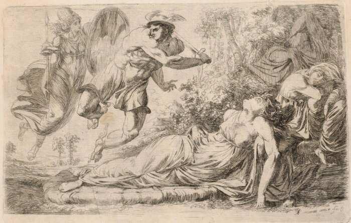 Персей и спящая Медуза, Александр Рансиман , 1774 год. \ Фото: metmuseum.org.
