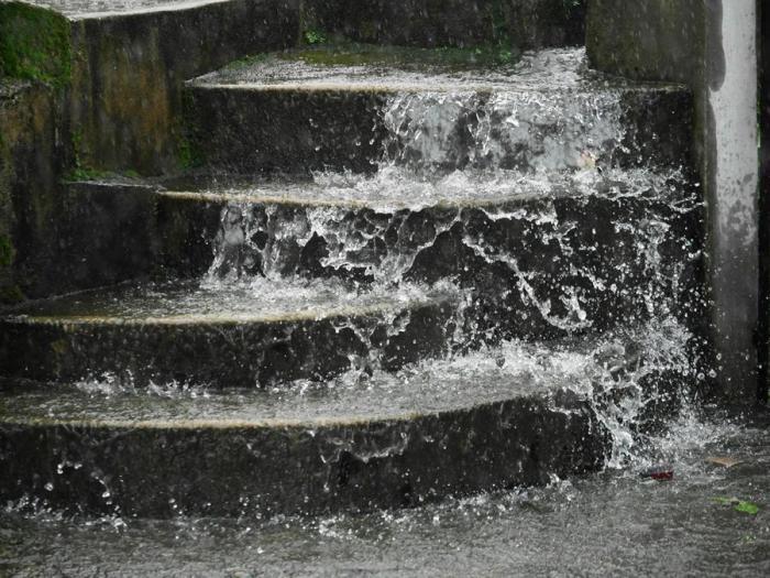 Потоки дождевой воды. Мегхалая, Индия.
