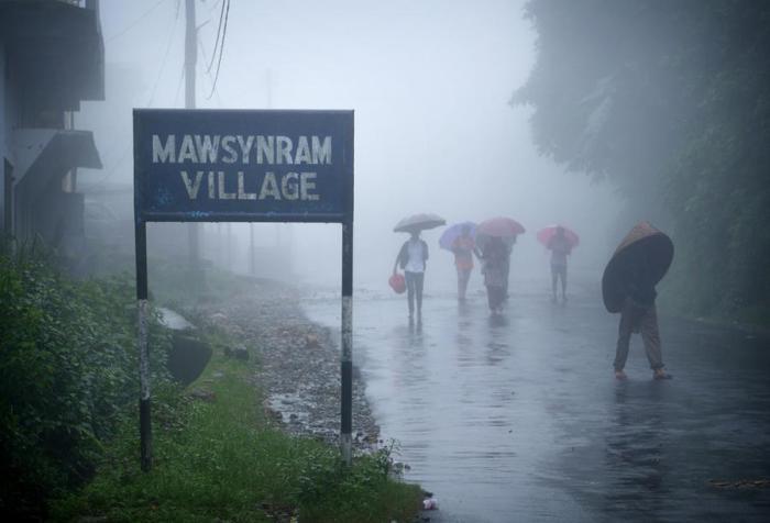 Вход в деревню. Мегхалая, Индия.