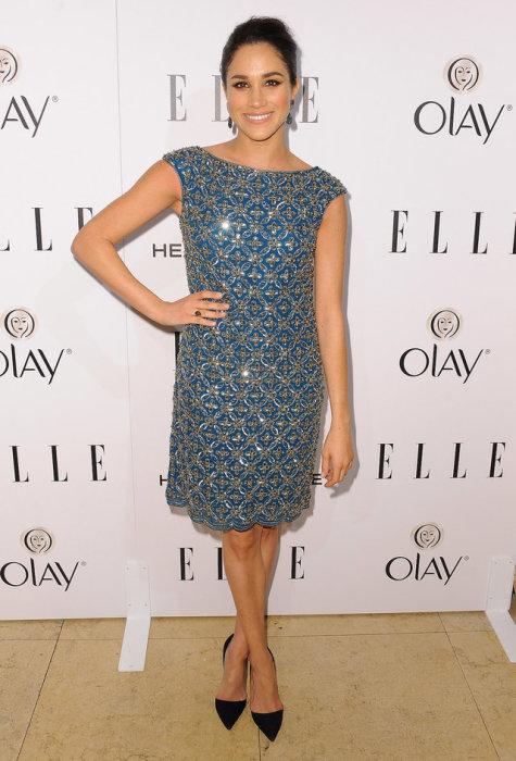 Меган в этом платье была чрезвычайно привлекательной, январь 2014 год.