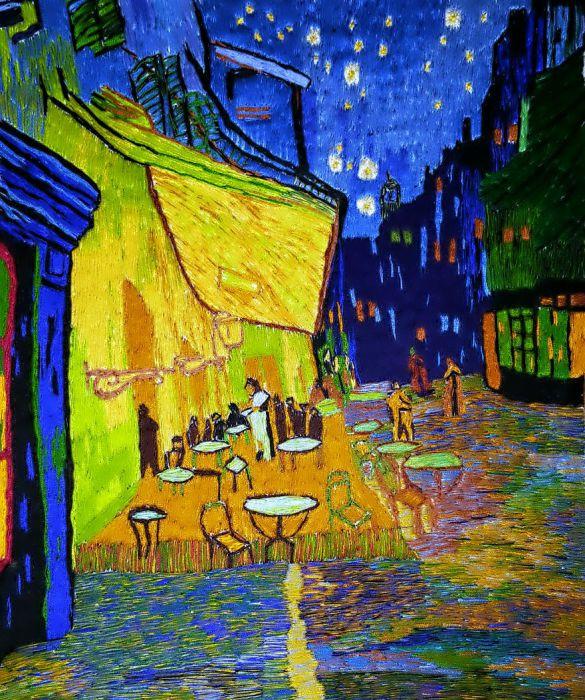 Ночная терраса кафе. Автор: Меко Гелашвили.