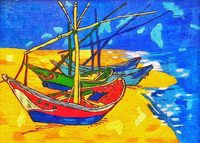 Рыбацкие лодки на пляже Сент-Мари. Автор: Меко Гелашвили.