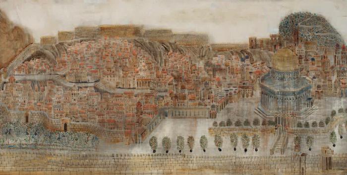 Иерусалим. Грузинский художник Мераб Абрамишвили (Merab Abramishvili).