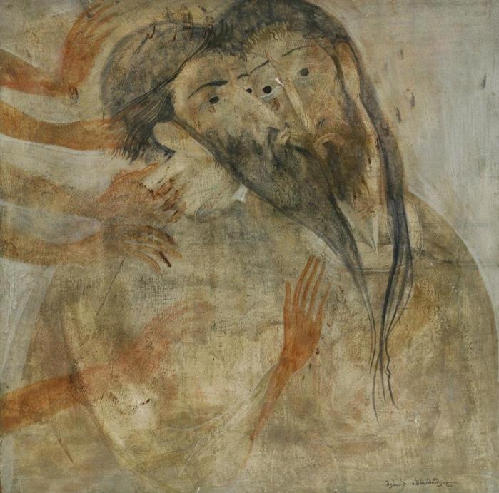 Поцелуй Иуды. Грузинский художник Мераб Абрамишвили (Merab Abramishvili).