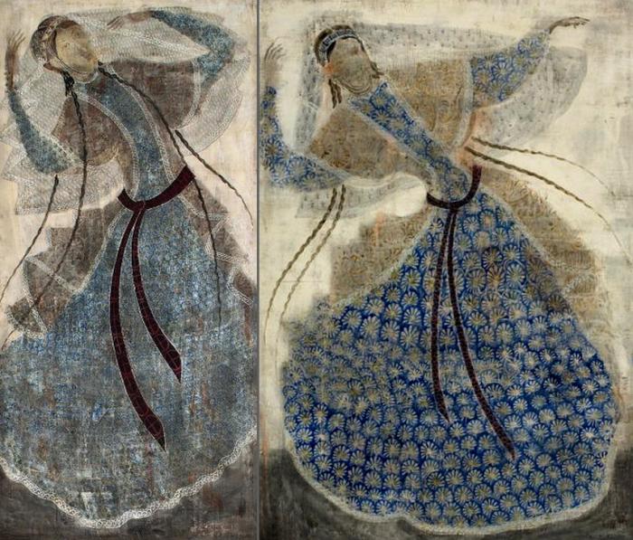 Танец. Грузинский художник Мераб Абрамишвили (Merab Abramishvili).