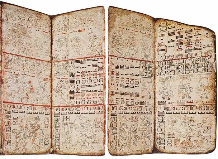 Факсимиле Дрезденского кодекса (деталь), XIII или XIV век до нашей эры. \ Фото: brewminate.com.