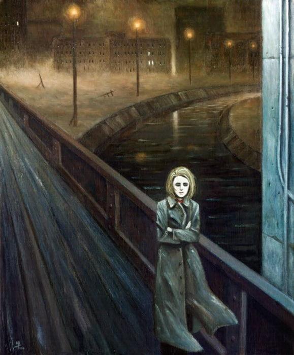 Одиночество на мосту. Автор: Michael Brack.