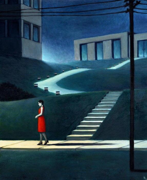 В свете фонарей.  Автор: Michael Brack.