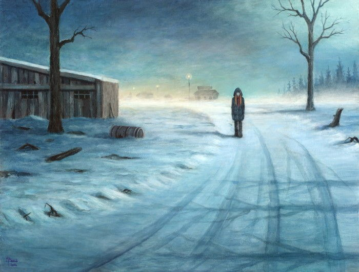 Однажды зимним вечером. Автор: Michael Brack.