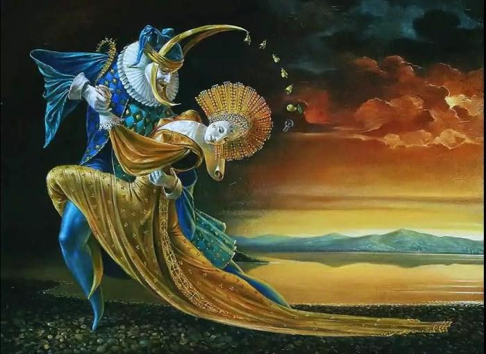 Танго на закате. Автор: Michael Cheval.
