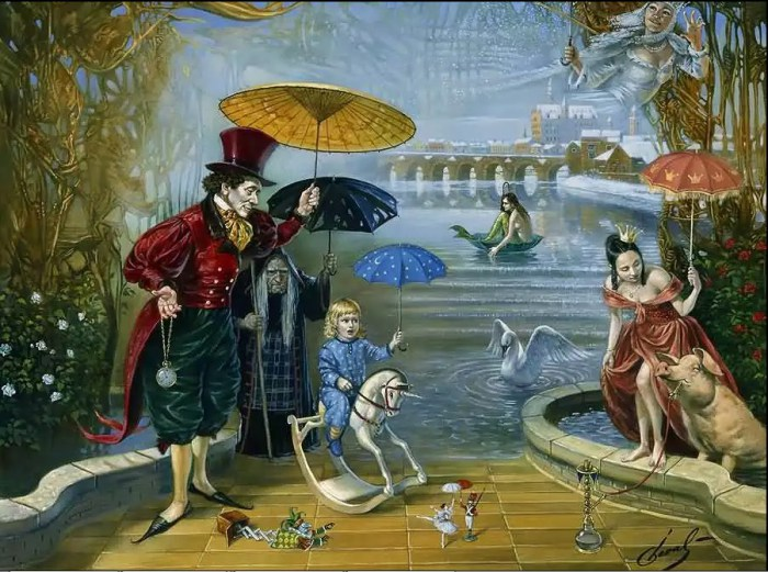 Флуд: сон в сказочной стране. Автор: Michael Cheval.