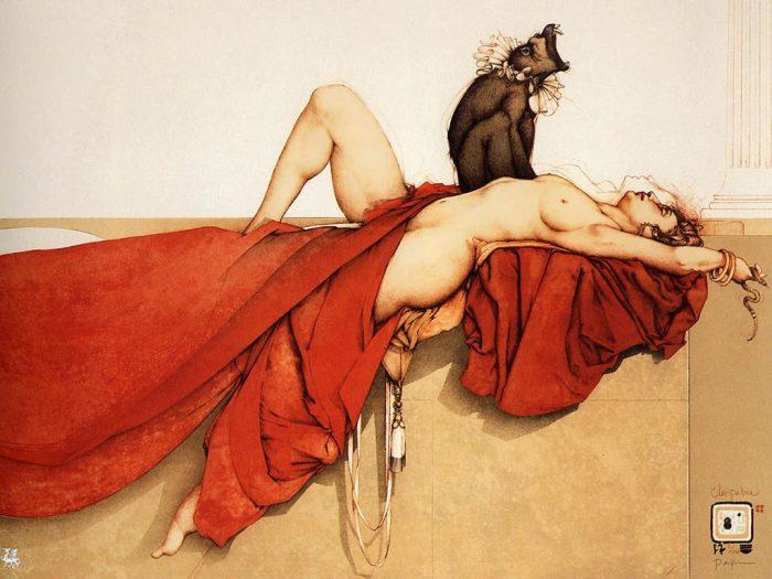 Клеопатра. Автор: Michael Parkes.