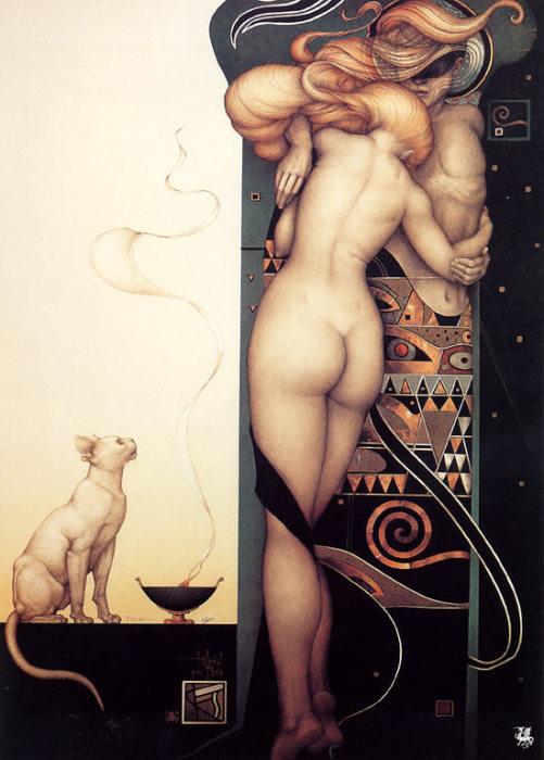 День и ночь. Автор: Michael Parkes.