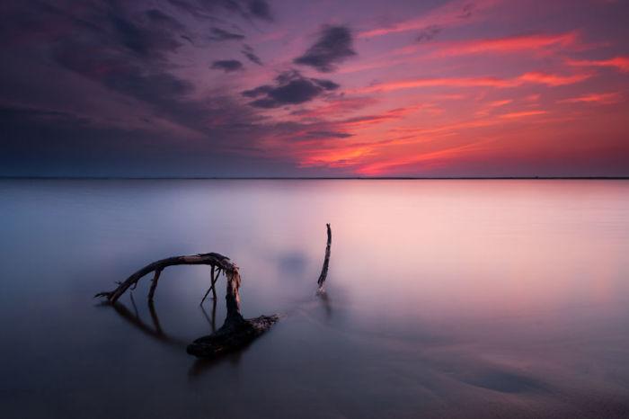 Море на закате дня. Автор: Michal Olech.