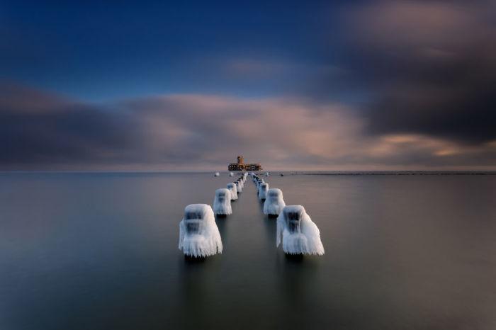 Море зимой. Автор: Michal Olech.