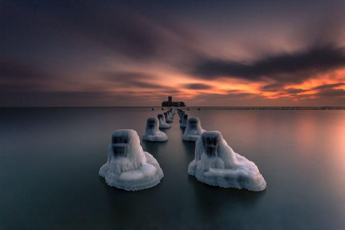 Закат на Балтийском море. Автор: Michal Olech.