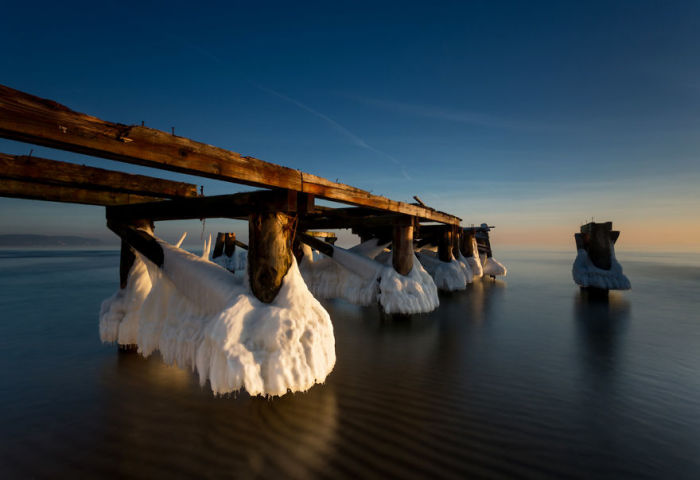 Зимнее море. Автор: Michal Olech.