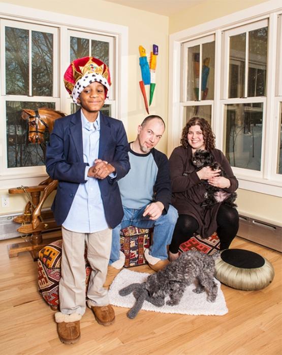 Пи Джей, Мэтт и Фред.  Нью-Йорк, зима 2011 г.  Автор фото: Michele Crowe.