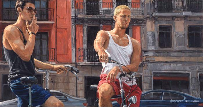 Велосипедисты. Автор: Michеle Del Сampo.