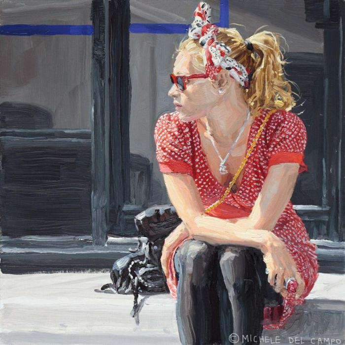 Девушка в красном. Автор: Michеle Del Сampo.