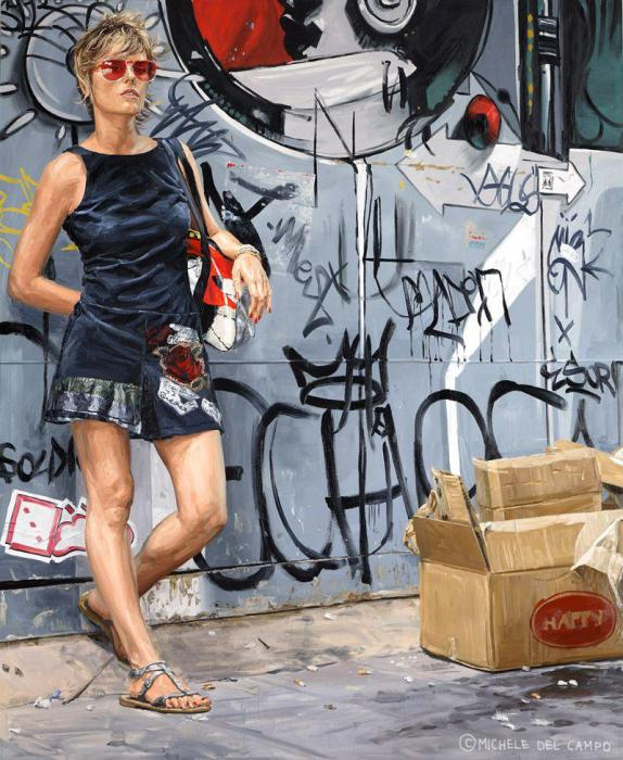 На улицах большого города. Автор: Michеle Del Сampo.