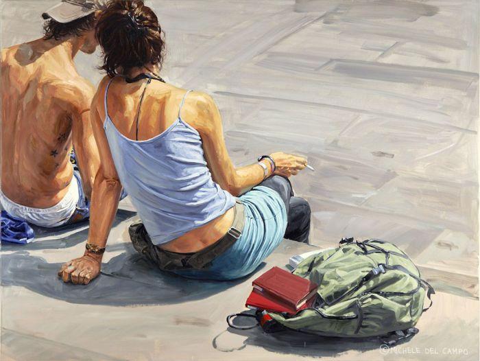 Двое на набережной. Автор: Michеle Del Сampo.