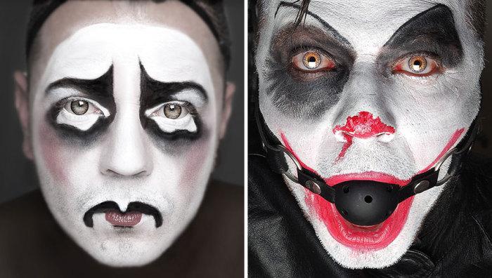 Коулрофобия – боязнь клоунов. На фото автор идеи: Майк Квин (Mick Queen) в так пугающих его образах.