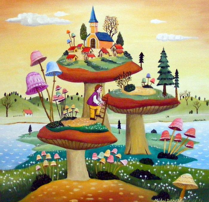 Творчество румынского художника-наивиста Михайя Даскалу (Mihai Dascalu).